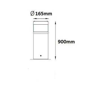 Kotka F LED mittakuva